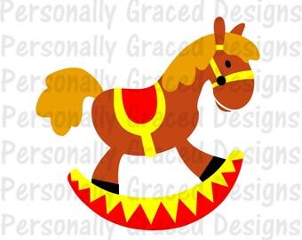 Rocking Horse Decal Etsy