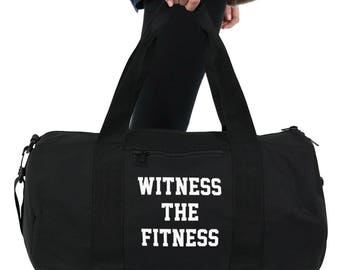 Witness The Fitness Gym Bag Duffel Sports Yoga Weightlifting Girl Power