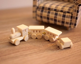 Dollhouse train toy dolls house wood train 1 12 scale miniature