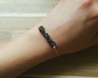 Blue Tigers Eye Bracelet or Anklet // Hawk's Eye Bracelet // Ankle Bracelet // Crystal Bracelet // Gemstone Bracelet // Silver Bracelet
