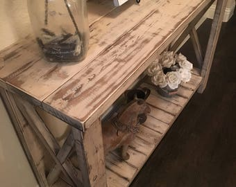 Distressed Country Farmhouse Console/Buffet/Entry Table