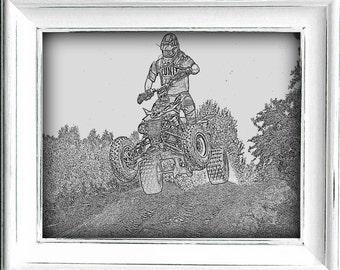 Quad Sketch,#Quad,#Sketch,#ATV,#OffRoad,#4Wheeler,#DirtBike,#Mud,#Ride,#Race,#Dunes,#SandDunes,#TrailRide,#Art,#Printables,#HomeDecor,#Sport