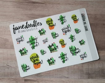Life's A Prick Hand Doodled Stickers