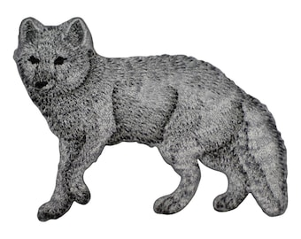 Arctic Fox Applique Patch (Iron on)