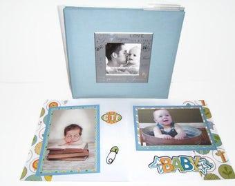 Baby Boy Shower Gift - Baby Boy Photo Album - Premade Baby Boy Scrapbook - Baby Boy Scrapbook Album - Baby Boy Book - Baby Boy Photo Book