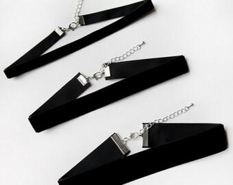 Velvet Black Choker Necklace