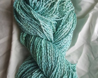 Recycled cotton yarn, hand dyed yarn, reclaimed yarn, vegan yarn, upcycled yarn, unraveled yarn, cruelty free yarn, worsted cotton yarn