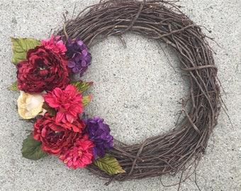 Multicolored, flower wreath
