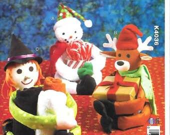 Kwik Sew Christmas Crafts,    Miscellaneous Holders,  New Kwik Sew Pattern 4036