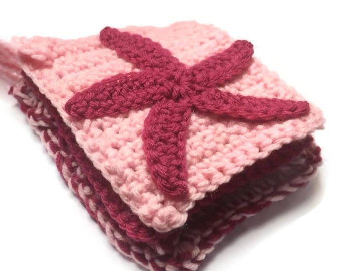 Three Starfish Body Wash Cloths