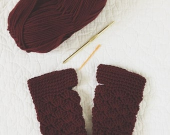 Fingerless Gloves Crochet PATTERN // Easy - Intermediate