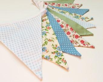 Shabby Chic Bunting, Wedding Bunting, Floral Bunting, Fabric Bunting, Shabby Chic Banner, Rustic Banner, Bunting Banner, Nessa Foye