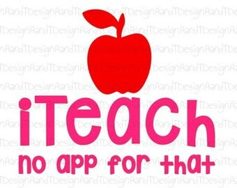 iTeach No app for that SVG