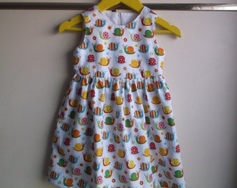 Cute snails dress