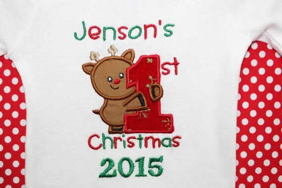 dollywollysewing babys first christmas onesie personalized baby first christmas onesie baby girl christmas onesie baby boy christmas onesie rudolph