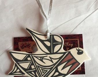 Handpainted Native American clay christmas ornaments (Navajo)