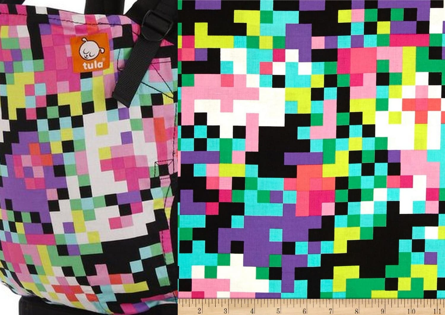 sale 9 00 yard pink and purple square pixel cotton michael