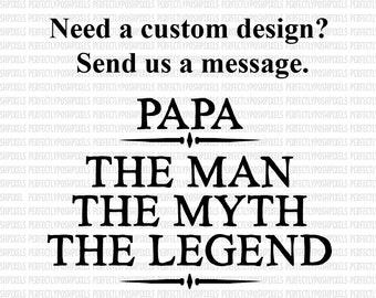 Fathers Day svg eps dxf The Man The Myth Cutting files Cutting Machine Cricut Design Space Silhouette Studio Designer Edition Commercial Use