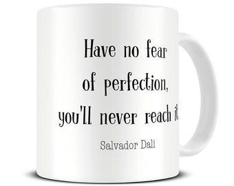 Perfection Quote Mug - Salvador Dali Quote - Gift for Artists - Art Gifts - Salvador Dali Coffee Mug - Gift for Painter - MG605