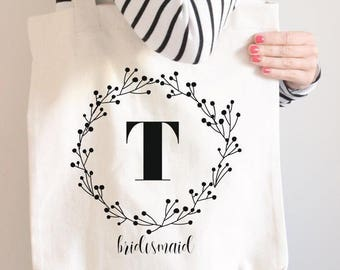 Tote Bags for Bridesmaids, Monogrammed Bags for Bridesmaids, Personalized Tote Bag Bridesmaid, Personalized Bridesmaid Tote // make your set