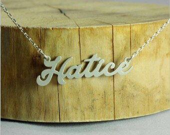 Super Tiny  Personalized Name Necklace, 925 sterling silver name necklace, Personalized name necklace