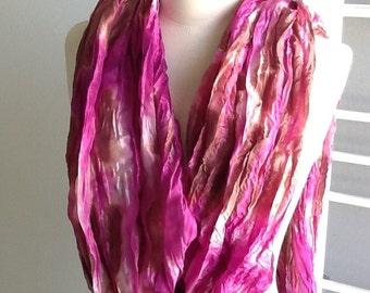 Tie dyed, violet n pink, 109