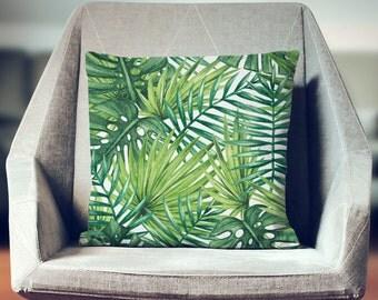 Palm Leaf Pillow Etsy