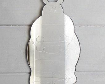 Cute Hippo Engraved Acrylic Mirror