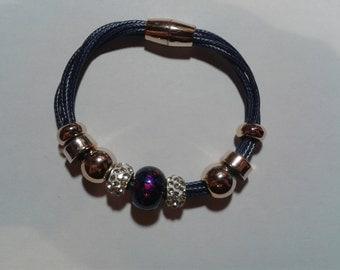 Blue charms bracelet