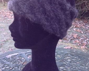 Alpaca headband, ear warmer in charcoal / black by Willow Luxury