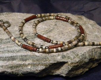 Tribal Necklace, Southwest Necklace, Heishi Necklace, Minimalist Necklace, Necklace for Men, Womens Necklace, Mens Beaded Necklace