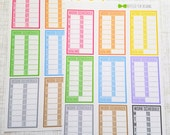 Work Schedule // Regular Work Hours or Overtime Hours Choice // Simple Collection (Set of 9) Item #373