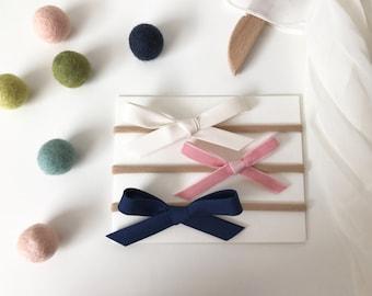Winter Blush Cotton Bow Set