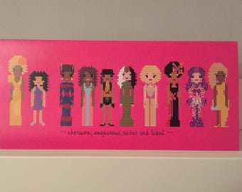 Drag queens large blank greeting card.