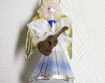 De Carlini Blown Glass Christmas Ornaments, De Carlini Glass Angels, Vintage Italian Hand Blown Angels, Soffieria De Carlini Glass Ornaments