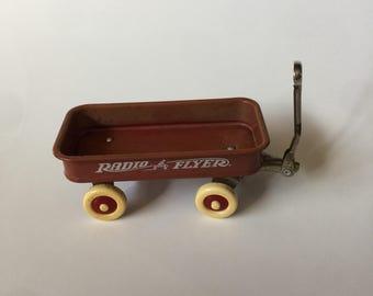 Miniature Vintage Radio Flyer Pull Wagon - Doll House