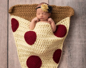 Pizza Slice Cocoon Blanket, MADE To ORDER, All Sizes, Snuggle Blanket, Sleeping Bag, Lap Blanket, Baby, Toddler, Child, Adult Size