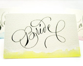 Handwritten Customizable Place Cards for Weddings, Dinners or Parties