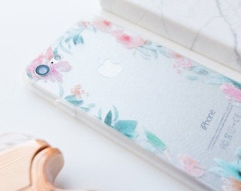 iPhone Case - Floral Edge - iPhone 7 Case, iPhone 6 Case, Minimalist iPhone Case, Floral iPhone Case, Flowers, High Fashion, iPhone 6s Case