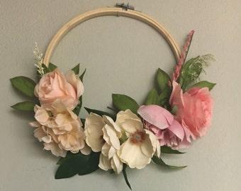 Perfectly Pink Hoop Wreath