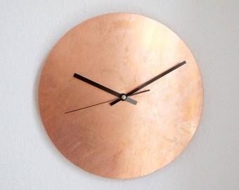 Copper Raw - Wanduhr