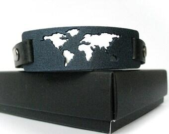 Weltkarte armband etsy - Wanderlust geschenke ...