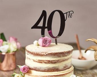 Standard 40th Birthday Cake Topper-40th cake topper-birthday cake decoration-40th birthday cake decoration-40th cake topper