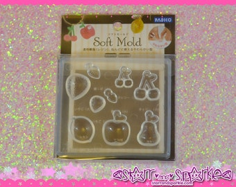 Padico Clay Mold - Fruit - for Soft Clay, Charms, Accessories, Deco, Kawaii, Crafts, Miniature Food