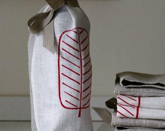 Wine Gift Bag/ Linen Wine Bag/ Wine sack/ Hostess Gift