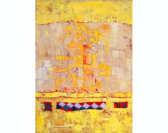 Canvas Giclée Print, Abstract Painting, Modern Wall Art, Yellow Contemporary Art, Modern Abstract Print for Living Room, Luxury Home Decor