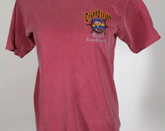 Crabby Jacks On the Bay T-Shirt Size Small Maroon