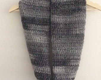 Crochet infinity womens scarf