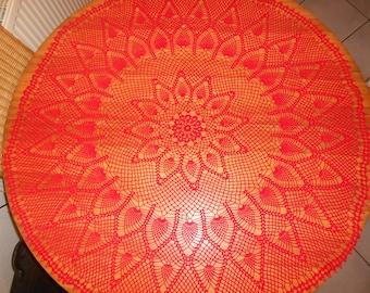 Crochet round blanket