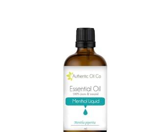 Menthol Liquid Essential oil 100% Pure 10ml 50ml 100ml